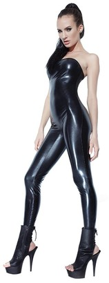 Coquette Women's Wet Look Tube Jumpsuit