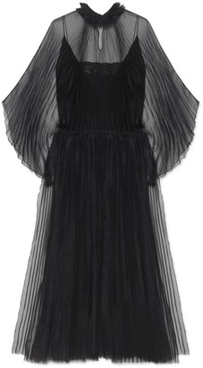 Gucci Silk organdy pleated dress