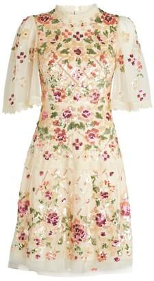 Needle & Thread Embellished Trellis Rose Mini Dress