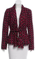 Oscar de la Renta Belted Tweed Jacket