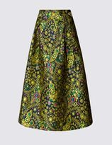 Marks and Spencer Jacquard Tie A-Line Skirt
