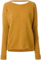 Humanoid open back sweater