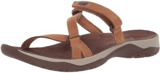 Teva Women's W ELZADA Slide LEA Sandal
