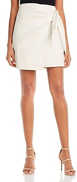 Lucy Paris Faux Leather Mini Skirt - 100% Exclusive