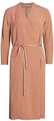 Agnona Wool Crepe Wrap Dress