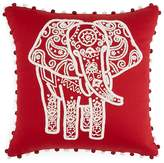 "Sky Indigo Patchwork Elephant Decorative Pillow, 16"" x 16"" - 100% Exclusive"