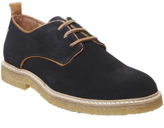 Poste Derby Shoes Ink Suede