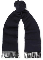 Tom Ford Fringed Silk Scarf - Navy