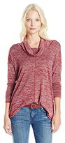Lucky Brand Women's Plus Size Cowlneck Tunic Sweater