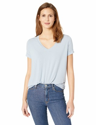 Majestic Filatures Women's Extrafine S/S V with Pleat Back Detail