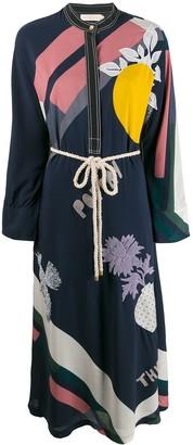 Tory Burch embroidered kimono dress