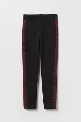H&M Jersey Pants with Lace - Black