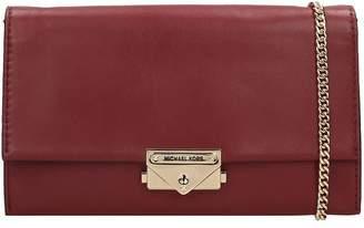 Michael Kors Clutch In Bordeaux Leather