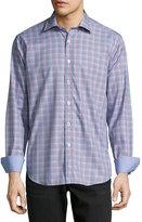 Bugatchi Plaid-Print Sport Shirt, Cherry