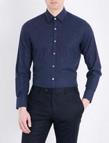 Canali Nailhead regular-fit cotton shirt