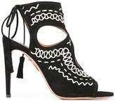 Aquazzura 'Sexy Thing Folk' sandals - women - Calf Leather/Goat Skin/Suede - 37.5