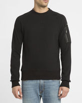 Schott NYC Black Bomber Sweatshirt