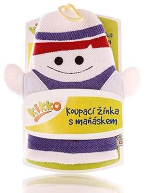 XKKO Ctnb G020 A with Hand Puppet Wash Mitt 100% Cotton, Multi-Coloured