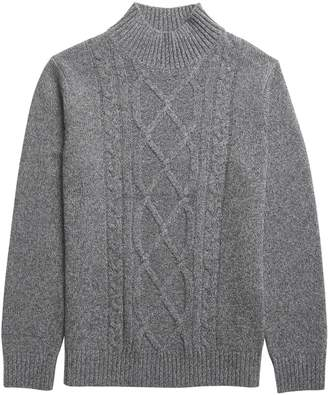 Banana Republic Wool-Blend Mock-Neck Sweater
