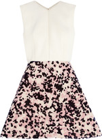 DELPOZO Neoprene and flocked organza mini dress