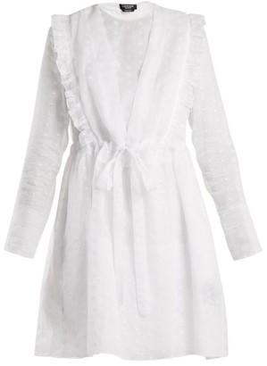 Calvin Klein Broderie Anglaise Cotton Organza Dress - Womens - White