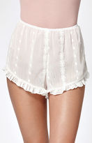Honey Punch Sheer Ruffled Soft Shorts