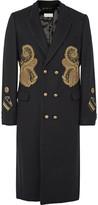 Dries Van Noten - Rennie Slim-fit Double-breasted Appliquéd Wool-blend Coat