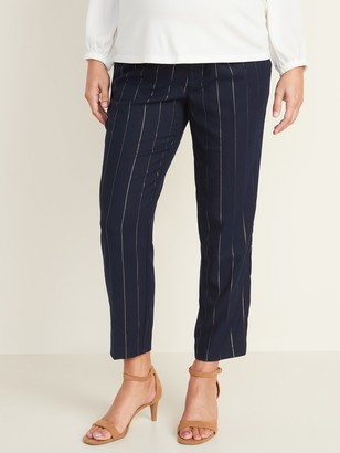 Old Navy Maternity Mid-Rise Full-Panel Pull-On Straight Pants