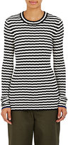 Proenza Schouler Women's Irregular-Striped Silk and Cashmere Sweater