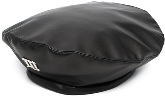 Misbhv Faux-Leather Drawstring Beret