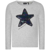 Ikks IKKSGirls Grey Sequin Star Top