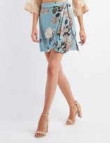 Charlotte Russe Floral Wrap Tie Skirt