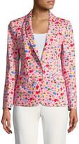 Love Moschino Women's Floral Print Blazer