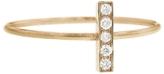 Jennifer Meyer Diamond Bar Stacking Ring - Rose Gold