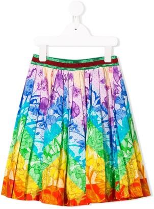 Gucci Kids Rainbow Floral Print Skirt