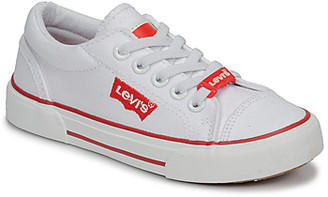Levi's Levis BERMUDA LACE VELCRO girls's Shoes (Trainers) in White