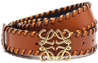 Loewe Braided Anagram Belt
