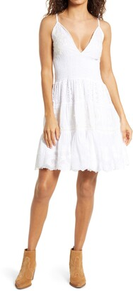 Area Stars Callie Smocked Lace Embroidered Dress
