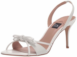 ZAC Zac Posen Women's high Heel Sandal with Halter Sling Back and Bow Upper Detail Pump