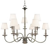 Hudson Valley Lighting Valley 4039-PN 9 Light Menlo Park Chandelier