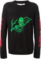 Off-White Skull Mirror Knitted Sweater - men - Cotton/Polyamide - XS