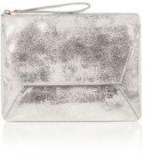 """Oasis LEATHER CLUTCH BAG [span class=""""variation_color_heading""""]- Silver[/span]"""