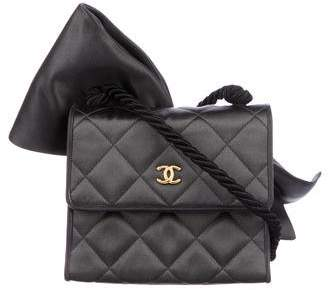 Chanel Satin Bow Evening Bag