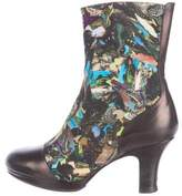 Dries Van Noten Abstract Printed Ankle Boots