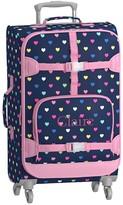 Pottery Barn Kids Mackenzie Navy Pink Multi Hearts Spinner Luggage