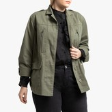 La Redoute Collections Plus Cotton Military Utility Jacket with Pockets