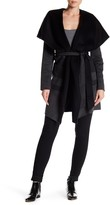 BCBGMAXAZRIA Ellie Hooded Wool Blend Wrap Coat