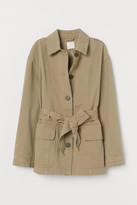 H&M Cotton Twill Cargo Jacket - Beige