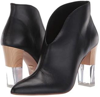 42 GOLD Kisses (Black Leather) Women's Shoes