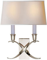 Visual Comfort & Co. Small Cross Bouillotte Sconce, Nickel